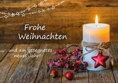 Frohe Weihnachten - Faltkarte