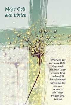 Faltkarte: Möge Gott dich trösten - Trauer
