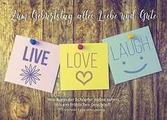 Postkarten: Zum Geburtstag alles Liebe und Gute, 12 Stück