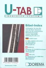Bibel-Griffregister - goldene Schrift auf schwarzem Grund