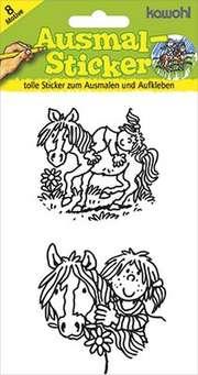 Ausmal-Sticker: Pferde