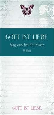 """Notizblock """"Gott ist Liebe"""""""