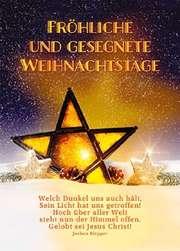 Faltkarte: Fröhliche und gesegnete Weihnachtstage